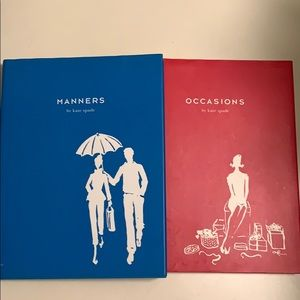 Vintage Kate Spade Manners and Occasions books.